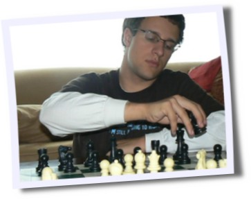 Eldest Son Kevin Playing Chess
